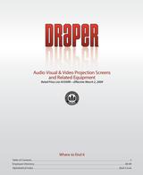 Draper Luma 207121 User Manual
