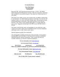 Atrix express hepa vacuum Release Note