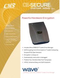 CMS Peripherals CE Secure DiskVault Wave Ed 500GB CE-DVLTW-500 Leaflet