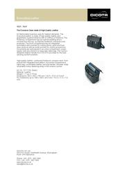 Dicota ExecutiveLeather N11118L Leaflet