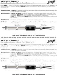 Stinger Fixed Line Output Converter SGN11 Leaflet