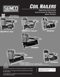 Senco COIL NAILERS SCN45 User Manual