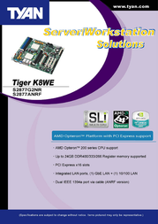 Tyan Tiger K8WE (S2877) S2877G2NR Leaflet