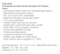 Gemini CDX-02G Leaflet