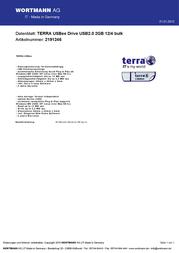 Wortmann AG USB2.0 2GB 2191246 Leaflet