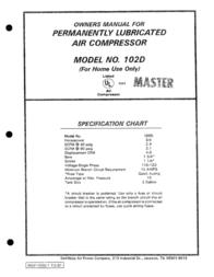 MASTER LOCK 102D User Manual