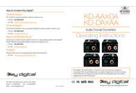 Key Digital KD-DAXAA User Manual