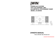 jWIN JX-CD8700 Mini Hi-Fi System 20W - MP3 Player JXCD8700 User Manual