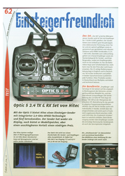 Hitec Hendheld RC 2.4 GHz No. of channels: 5 110181 Information Guide