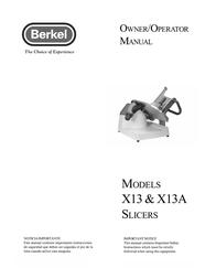 Berkel X13A User Manual