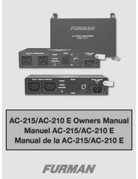 Furman AC-215A Owner's Manual