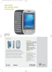 Qtek 9100, FR HTC092421 Data Sheet