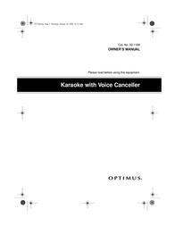 Optimus 32-1168 User Manual