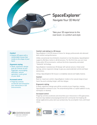 3Dconnexion SpaceExplorer serial CAD Professional 3DX-700027-CAD Leaflet