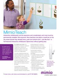 Sanford MimioTeach Power Supply 1771376 Leaflet