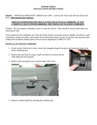 Chevrolet Window 6405/4410 User Manual