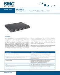 SMC 48-Port 10/100 + 2 Gigabit ports L2 Standalone Managed Switch SMC6750L2EU Leaflet