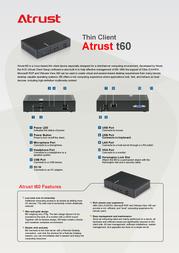 Atrust T60 01-T6000001-60 Leaflet