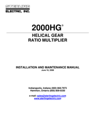 Sterling Water System 2000HG User Manual