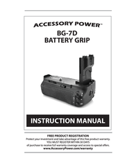 Accessory Power bg-7d User Manual