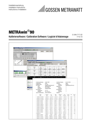 Gossen Metrawatt METRAWIN 90-2 Software Metrahit 90-2 User Manual