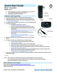 Smarthome Satellite Radio 2411T Leaflet