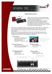 Genius SlimStar 100 31300672106 Leaflet