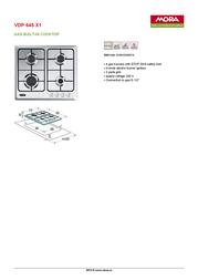 Mora VDP 645 X1 390064 Leaflet