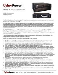 CyberPower PR3000SWRM2U Leaflet