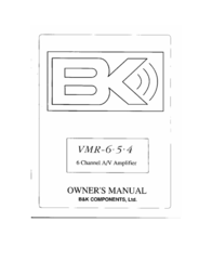 B&K VMR-6.5.4 User Manual