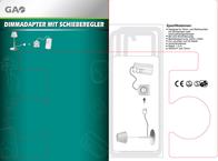 Gao Dimm adapter with sliding regulator Black 0784 Data Sheet