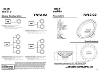 MTX TN12-02 Owner's Manual