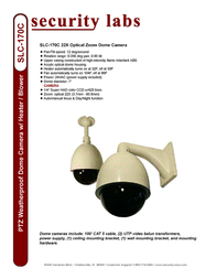 Security Labs SLC-170C Leaflet