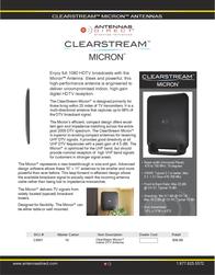 Antennas Direct Micron CSM-1 Leaflet