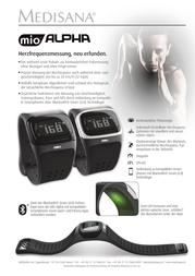 Mio Alpha Heart rate monitor watch with built-in sensor Black 79400 Data Sheet