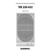 Gaggenau VR 230-612 User Manual