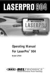 Beltronics Laser Pro 904 Owner's Manual