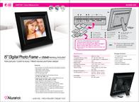"Aluratek 15"" Digital Photo Frame w/ 256MB Memory Included ADMPF315F Leaflet"