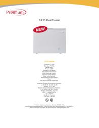 Premium PFR70800M Specification Sheet
