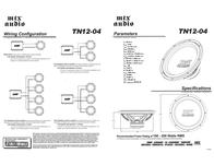 MTX TN12-04 Owner's Manual