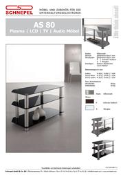 Schnepel AS 80 P TV desk AS 80 P Data Sheet