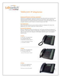 Talkswitch TS-550i CT-TP001-106401 Leaflet