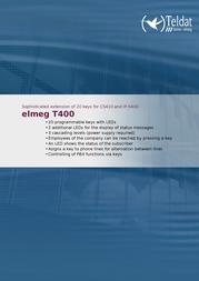Teldat Elmeg T400 1090640 Leaflet