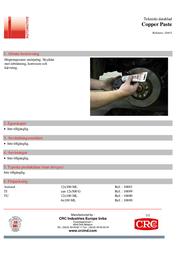 Crc 10699-AA Copper paste 500 g 10699-AA Data Sheet