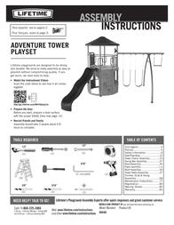 Lifetime Brands Inc. Backyard Playset 90440 User Manual
