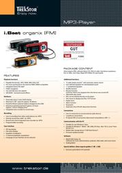 Trekstor 1GB i.Beat organix, Silver 21648 Leaflet