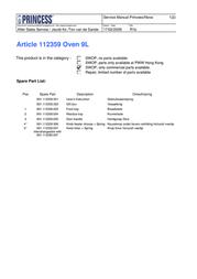 Princess 112359 Leaflet
