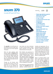 Snom 370 Telephone 1184 Leaflet