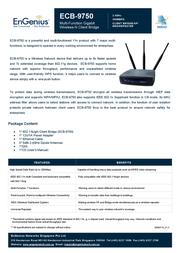 EnGenius ECB-9750 Multi-Function Gigabit Wireless-N Client Bridge 710102GECB9750 User Manual