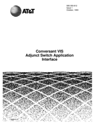 AT&T Conversant VIS Adjunct Switch 585-350-812 User Manual
